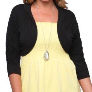 MSK Sweaters - MSK Evening Collection Black Bolero Shrug XL NWT